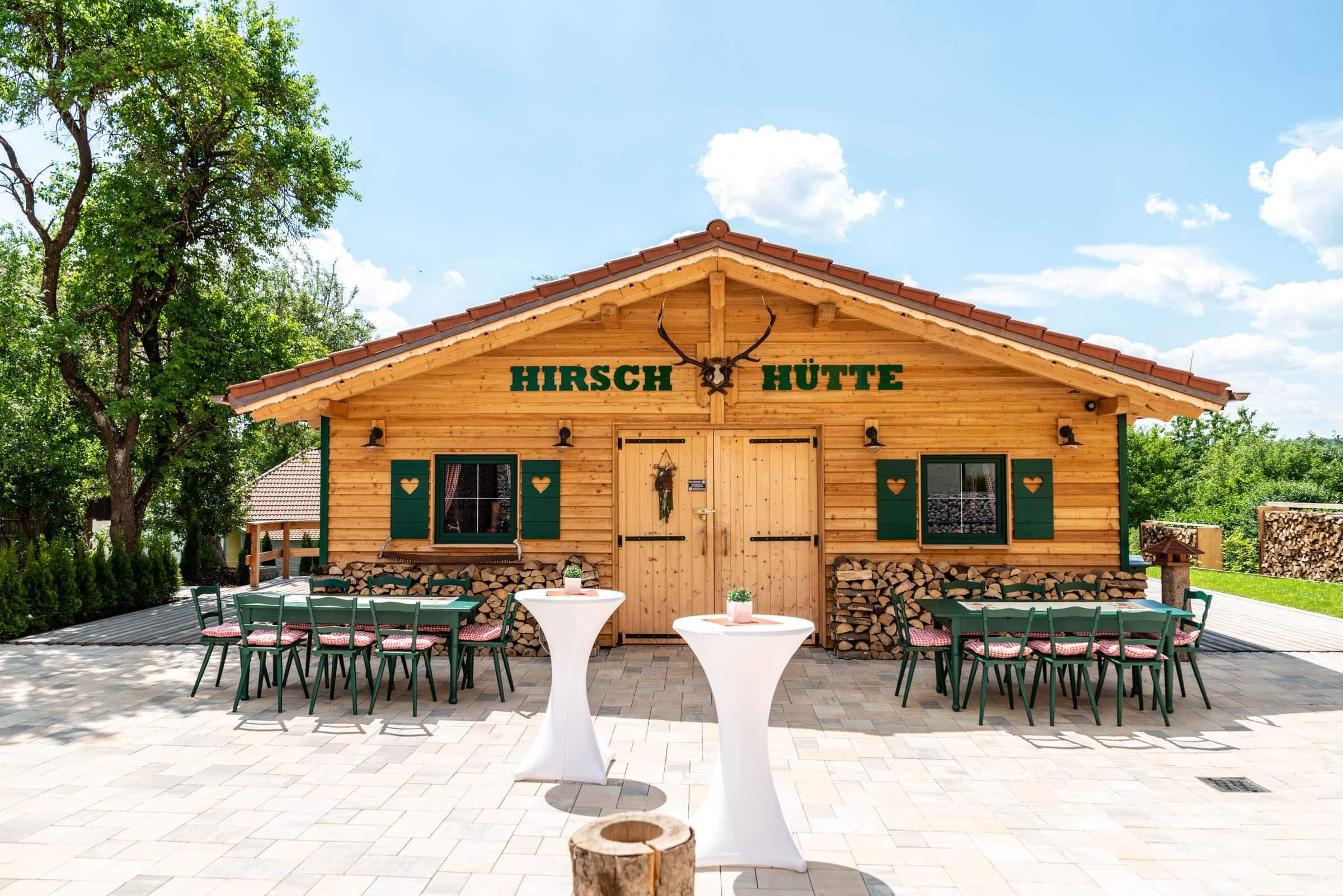 Landhotel Klozbücher Ellwangen-Eggenrot Event-Hütte